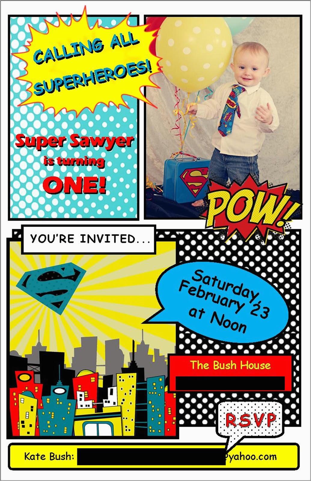 moucha cafe superhero 1st birthday
