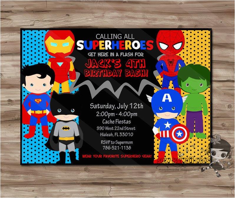 Superhero 1st Birthday Invitations Invitation