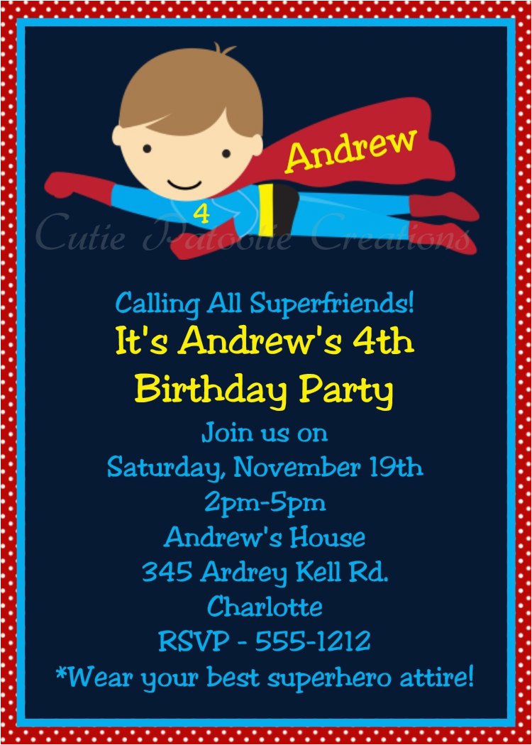 Superhero Birthday Invitation Wording Invitations Printable Templates