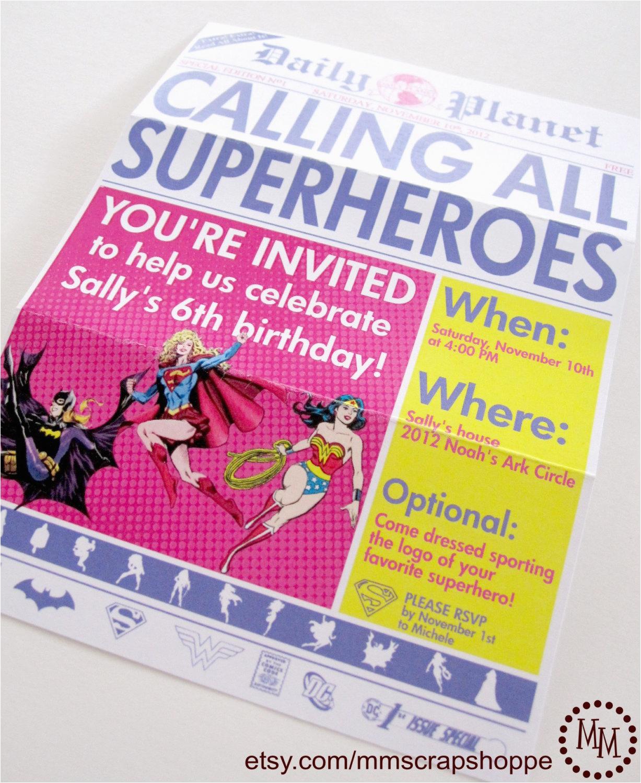 girls superhero newspaper custom