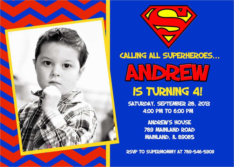 superman superhero birthday party