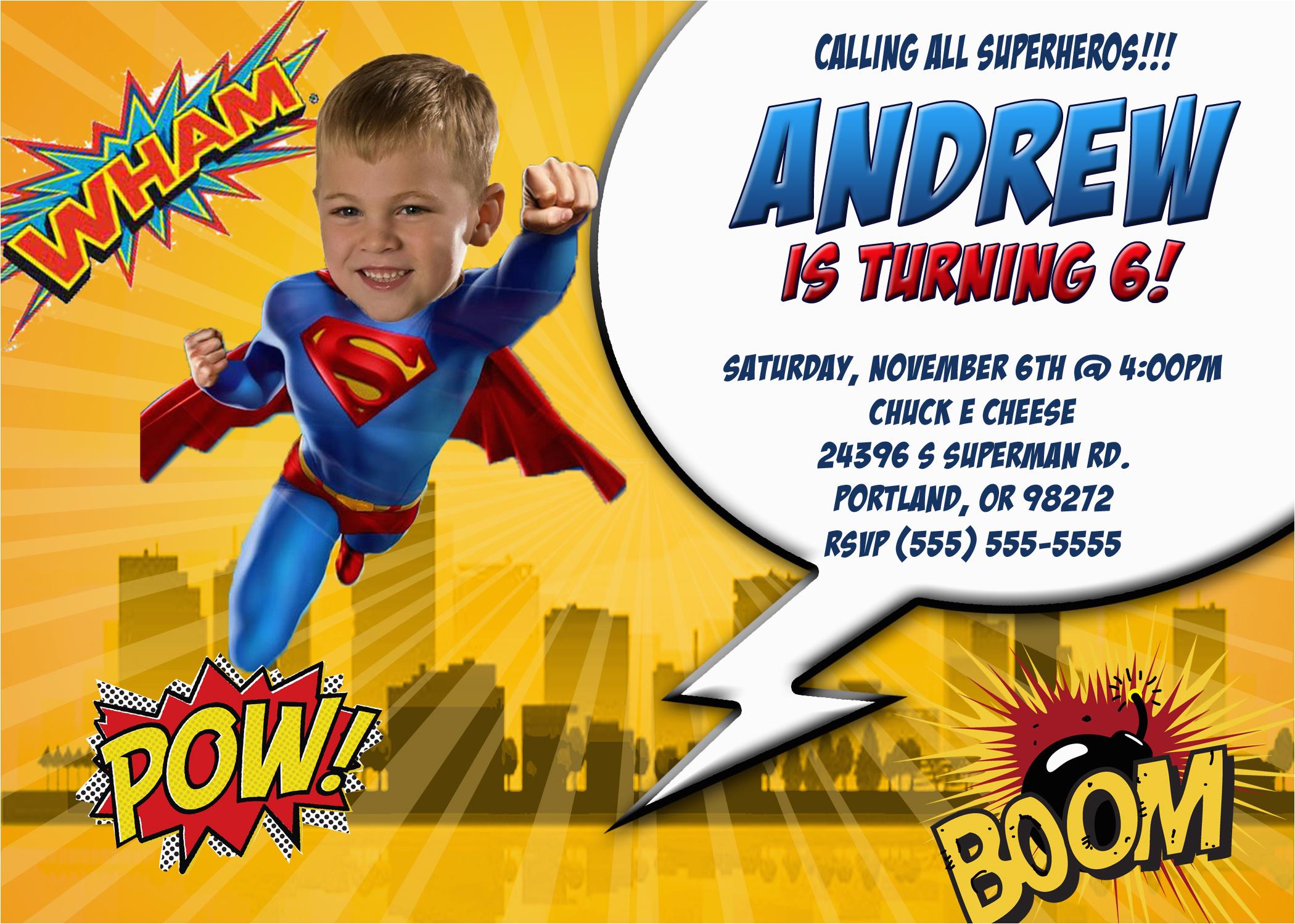 superman 1 birthday invitation