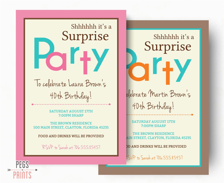 Suprise Birthday Invitations Birthdaybuzz