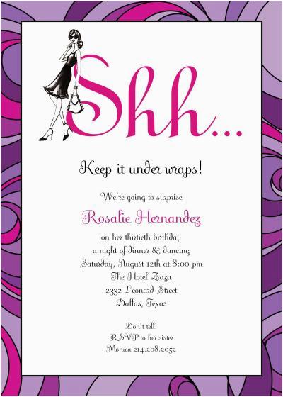 Suprise Birthday Invitations Surprise Party Invitation Template Dolanpedia