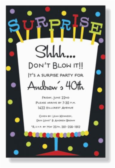 Suprise Birthday Invitations Wording For Surprise Party Free