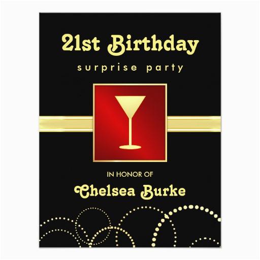 Surprise 21st Birthday Invitations Party Any Occasion Invites Zazzle