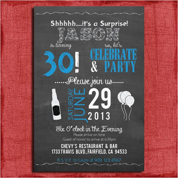 surprise 21st 30th 40th 50th chalkboard 2