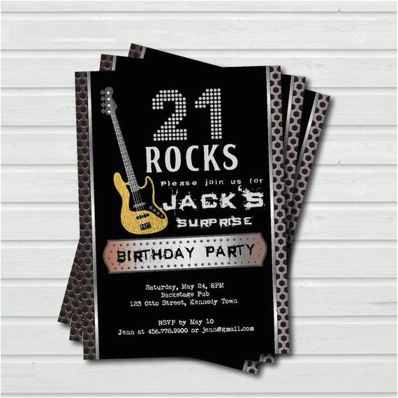 surprise 21st birthday invitation 21