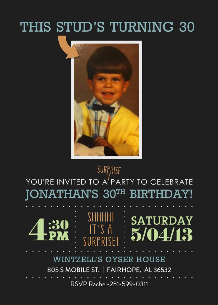 Surprise 30th Birthday Invitations For Him 30 Invitation Etsy Omg