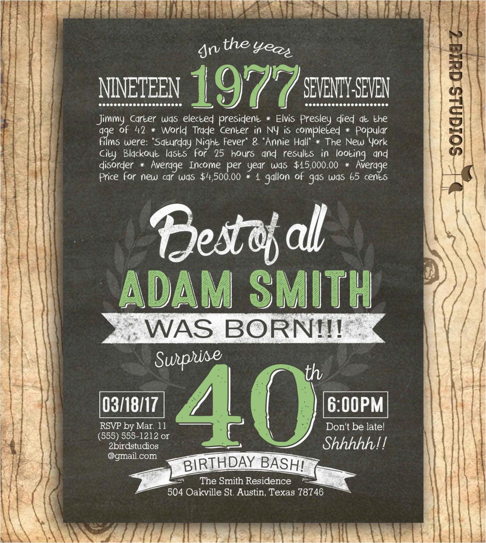 40th birthday invitation surprise 40th