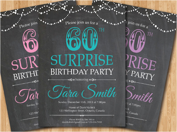 Surprise 60th Birthday Invitation Templates Free 31 Examples Of Designs Psd Ai