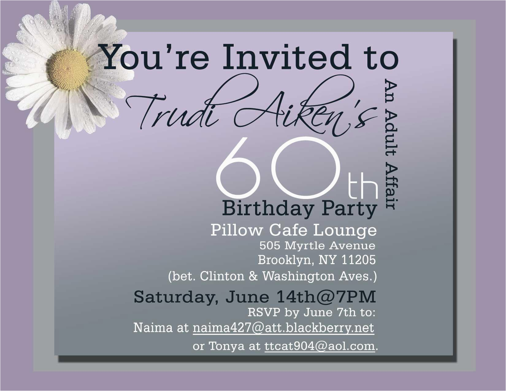 Surprise 60th Birthday Party Invitation Wording Invitations Templates
