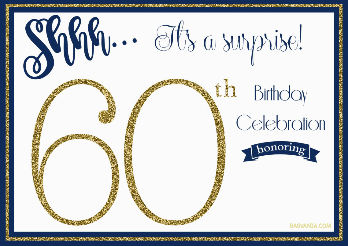 Surprise 60th Birthday Party Invitations Template Birthdaybuzz