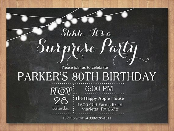 Surprise 70th Birthday Invitations Templates 25 Best Ideas About On