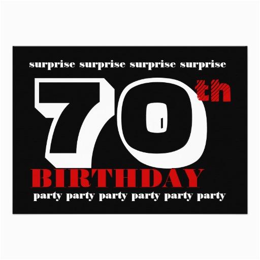 Surprise 70th Birthday Invitations Templates Party Invitation Template 5 Quot X 7