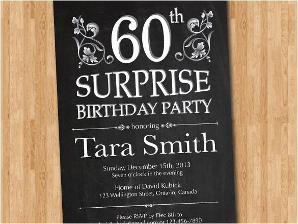 Surprise 70th Birthday Invitations Templates Free 60th Invitation Template Orderecigsjuice Info