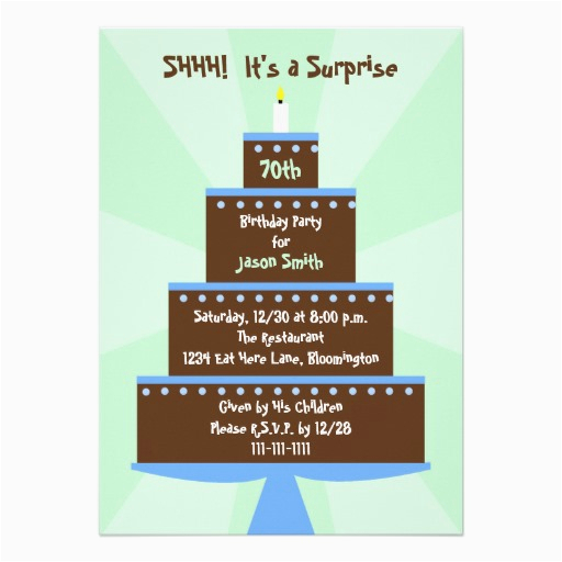 Surprise 70th Birthday Invitations Templates Free Printable Party