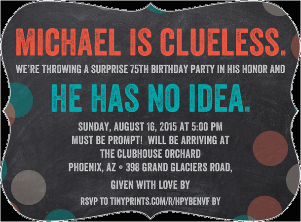 Surprise 80th Birthday Invitation Wording 75th Invitations 50 Gorgeous Party Invites