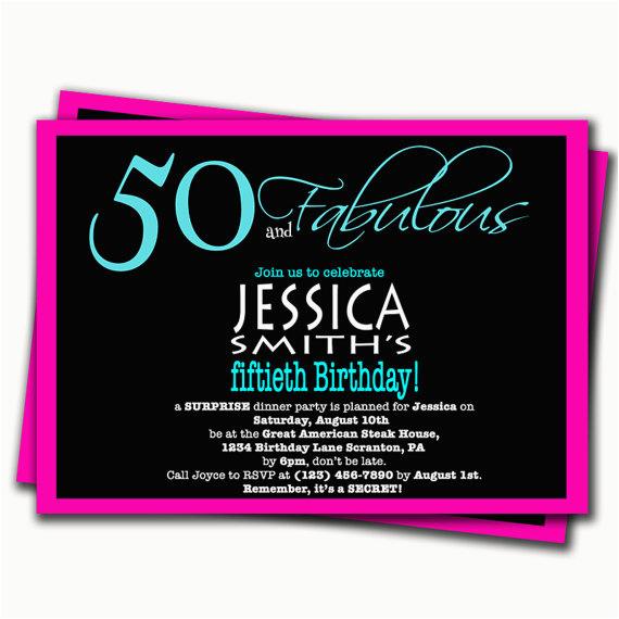 Surprise Birthday Dinner Invitation Wording 50th Party Invitations Dolanpedia