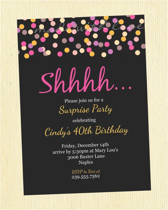Surprise Birthday Invitation Wording For Adults 50th Party Invitations Ideas A Cake
