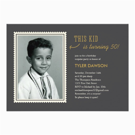 old photo surprise birthday party invitations 161948949859225625