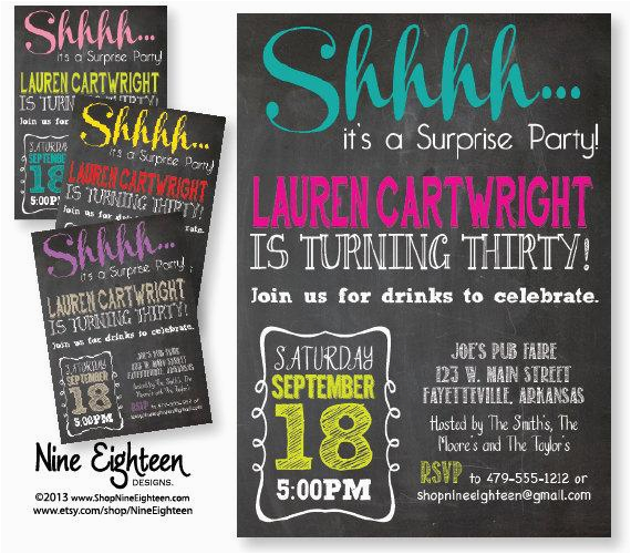 adult surprise party invitations