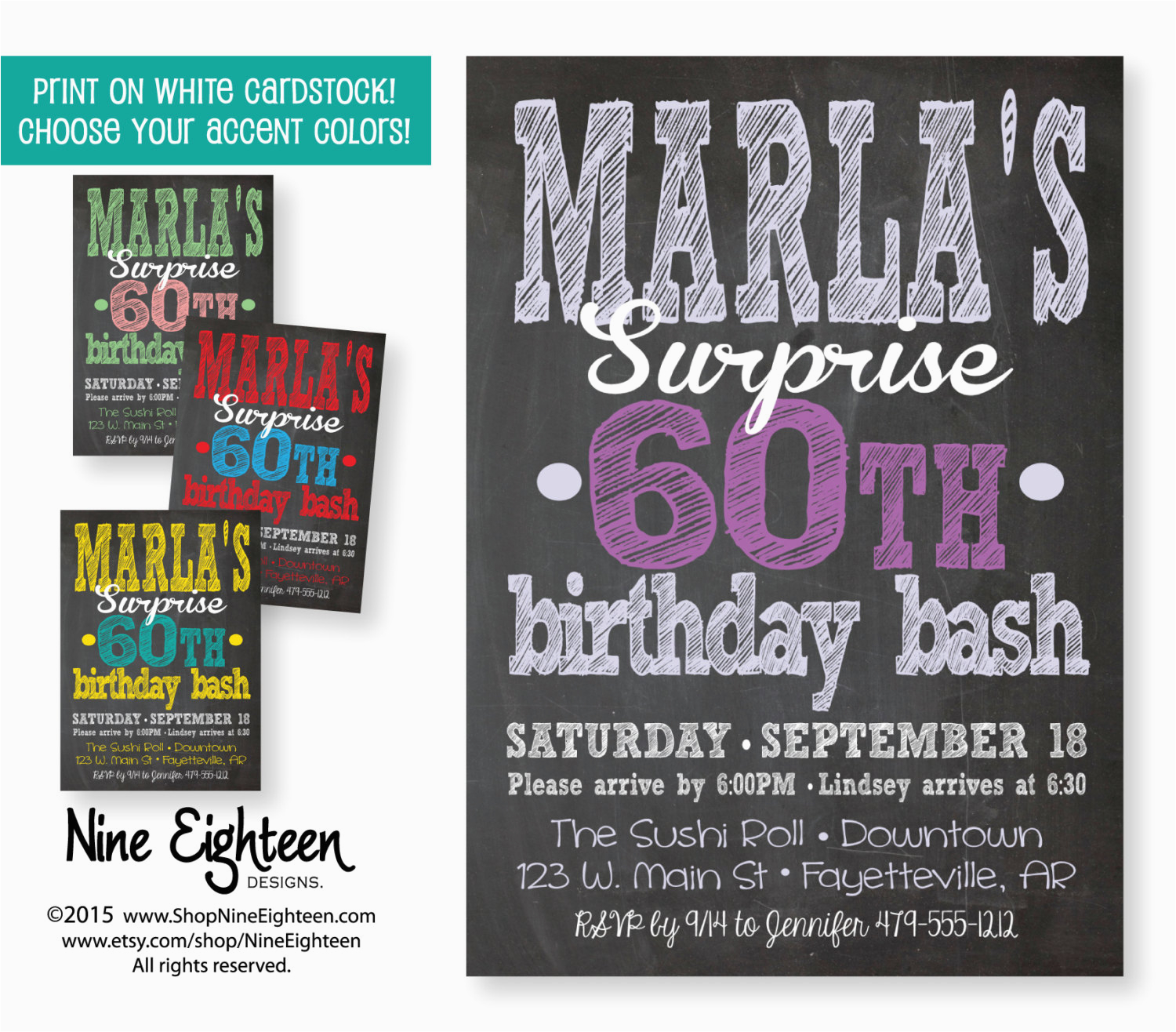 Surprise Birthday Party Invitations For Adults Invitation Adult Custom Printable By