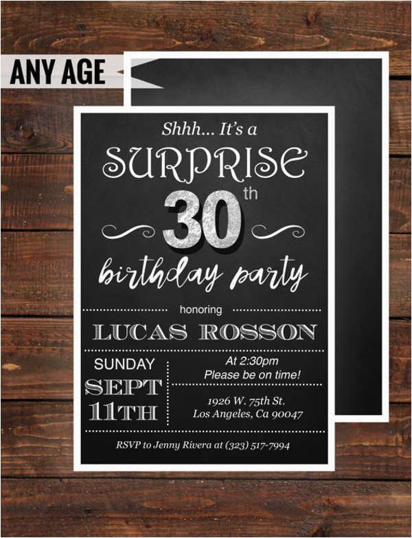 Surprise Birthday Party Invitations For Men Invitation Templates In Pdf Free Premium
