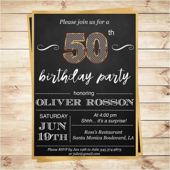 elegant surprise birthday party invites
