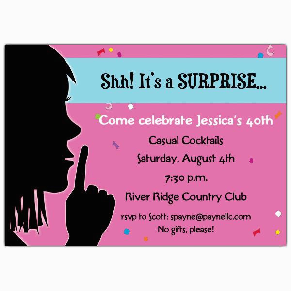 Surprise Birthday Party Invite Wording 20 Interesting 30th Birthday Invitations themes Wording