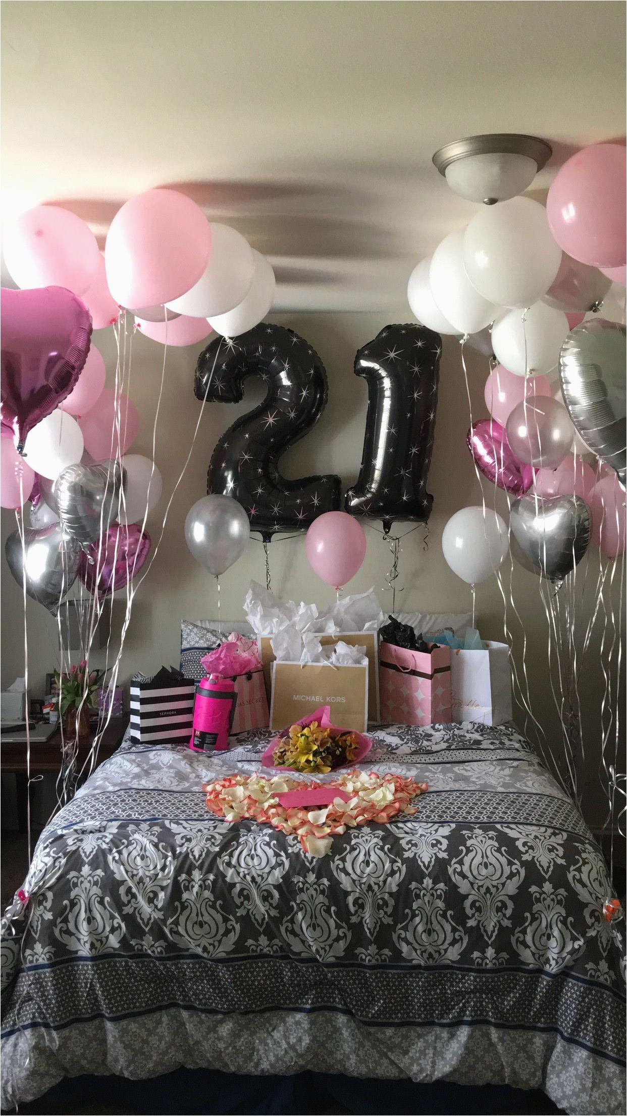 21st birthday surprise girlfriends birthday pinterest
