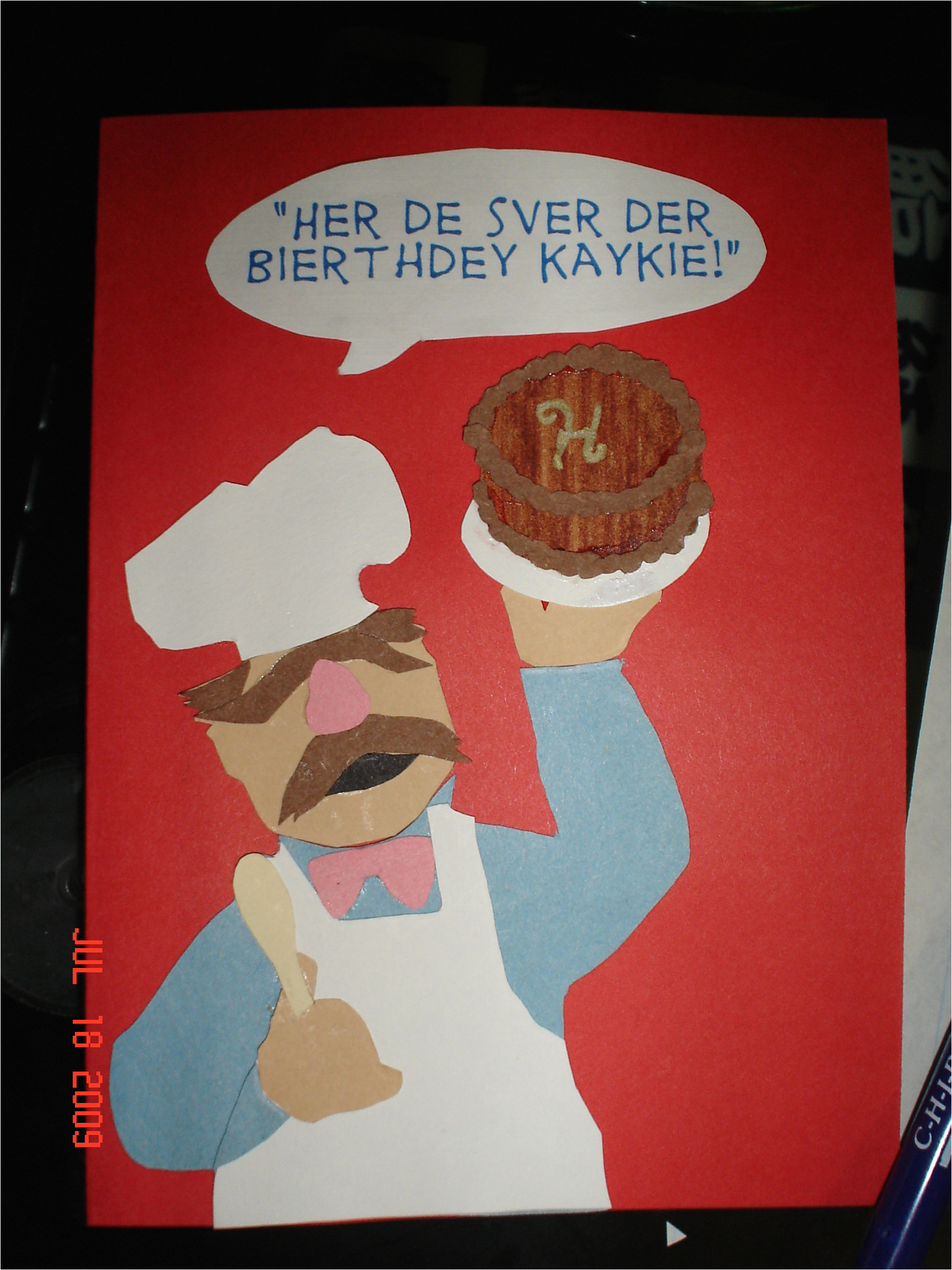 swedish chef birthday card by chronia on deviantart