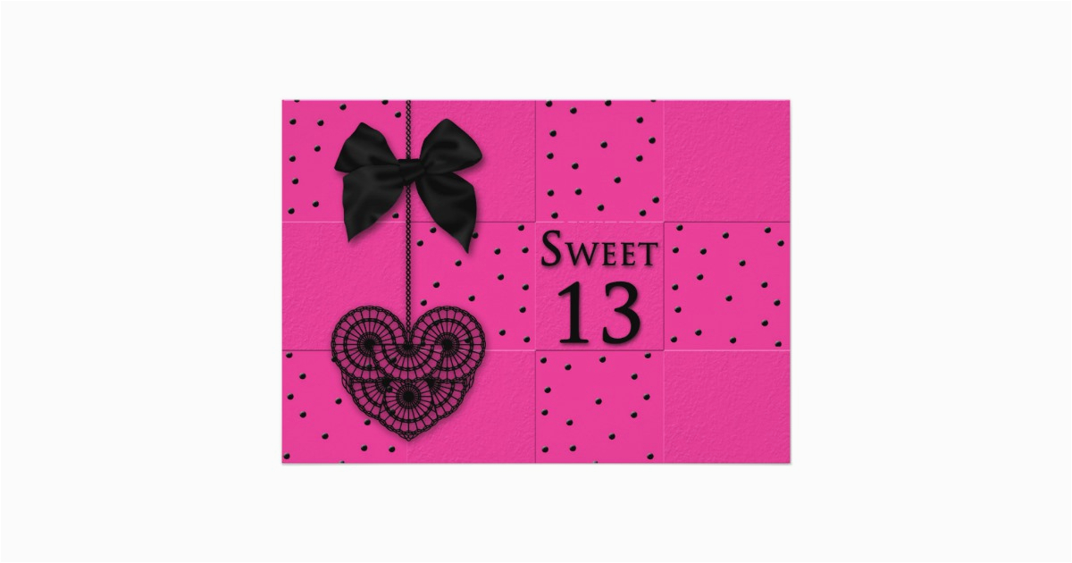 Sweet 13 Birthday Invitations Party Zazzle Com