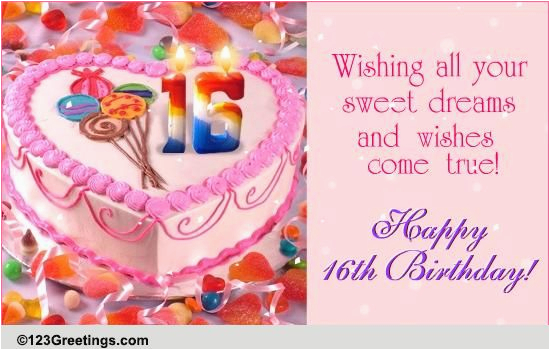 Sweet 16 Birthday Cards For Granddaughter 16th Free Milestones Ecards Greeting