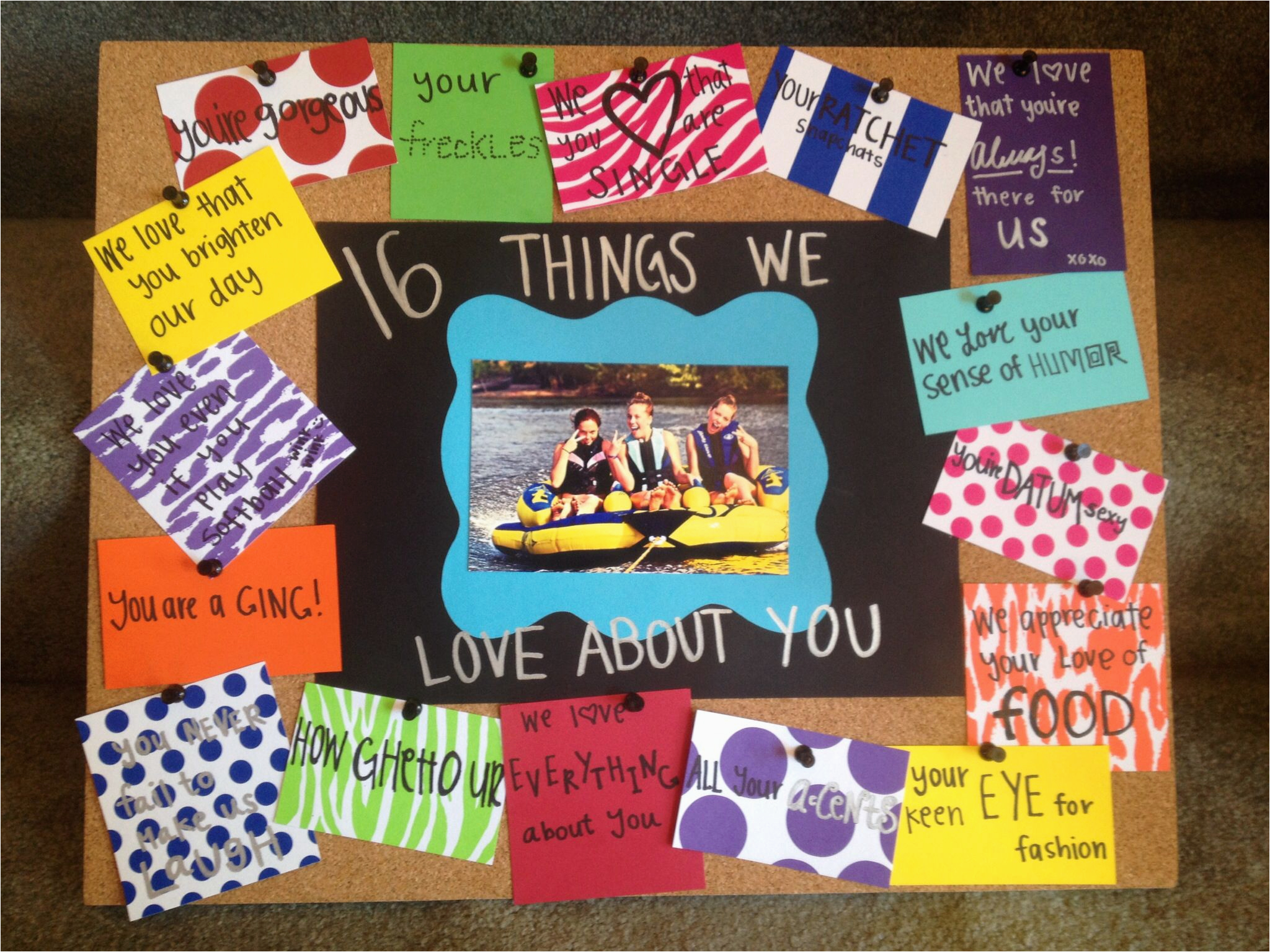 sweet 16 birthday gift idea quot 16 things we love about you