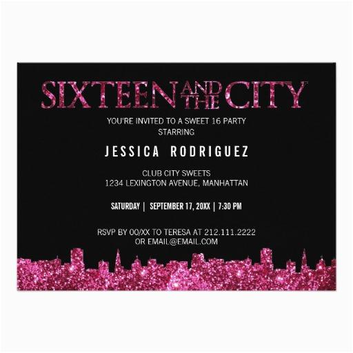 Sweet 16 Birthday Invitation Wording Invitations Free