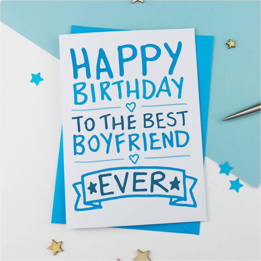 happy birthday boyfriend hand drawn card