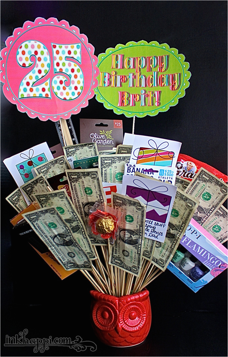 Birthday Gift Basket Idea With Free Printables Inkhappi
