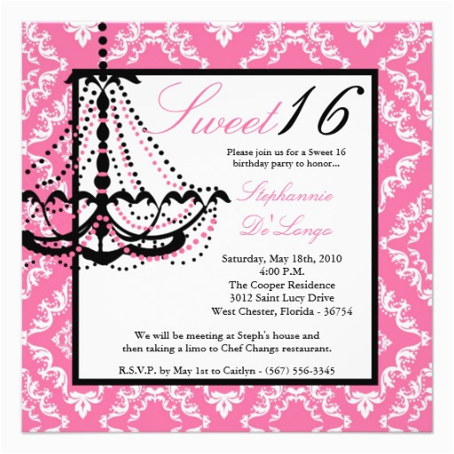 Sweet Sixteen Birthday Invitation Wording 16 Invitations Free