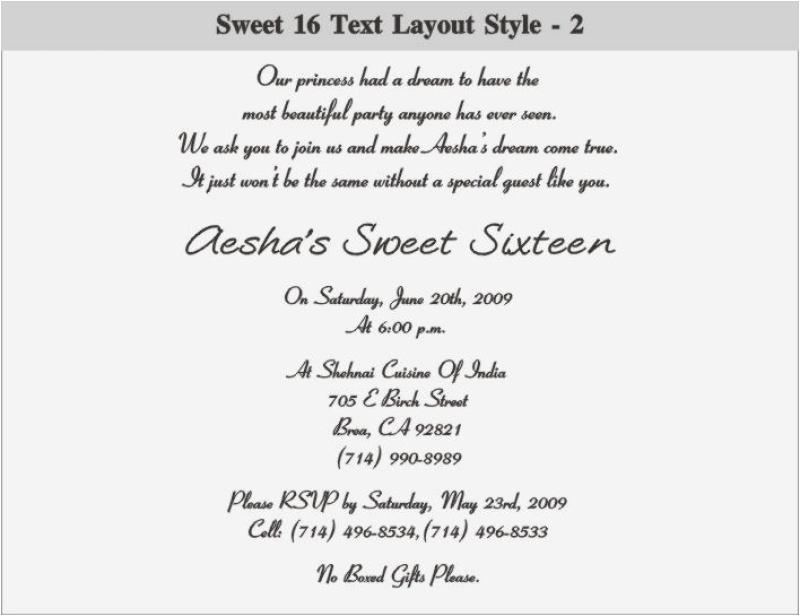 Sweet Sixteen Birthday Invitation Wording 16 Orderecigsjuice Info