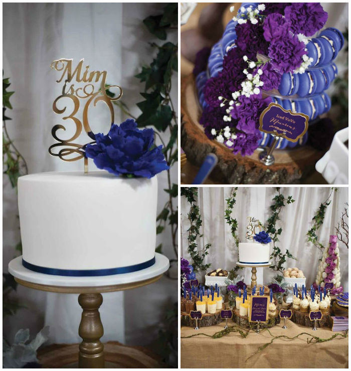Table Decorations for 30th Birthday Party Kara 39 S Party Ideas Rustic Glam 30th Birthday Party Dessert