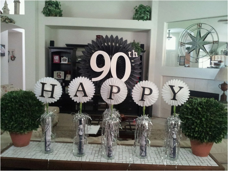 Table Decorations For 90th Birthday Party 15 Best Images About Gpa Ideas On Pinterest