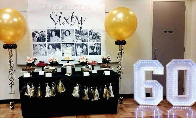 Party Table Decoration Ideas For 60th Birthday Images Gallery