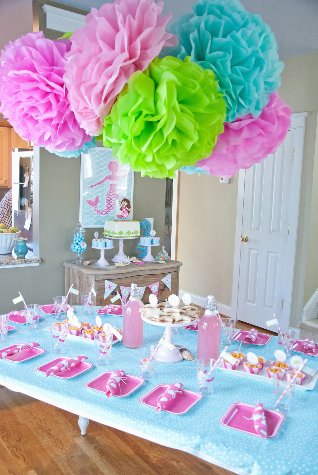 Table Decorations for Birthdays A Dreamy Mermaid Birthday Party anders Ruff Custom