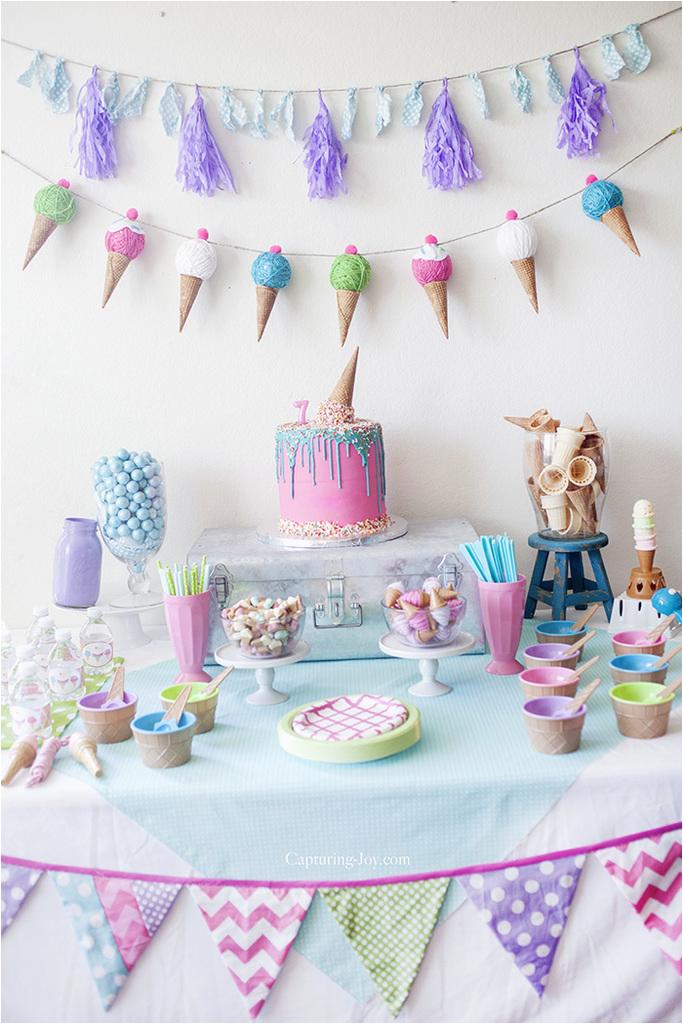 ice cream birthday party decorations