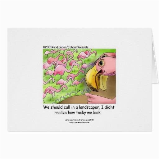 Tacky Birthday Cards Tacky Pink Flamingos Funny Greeting Card Zazzle