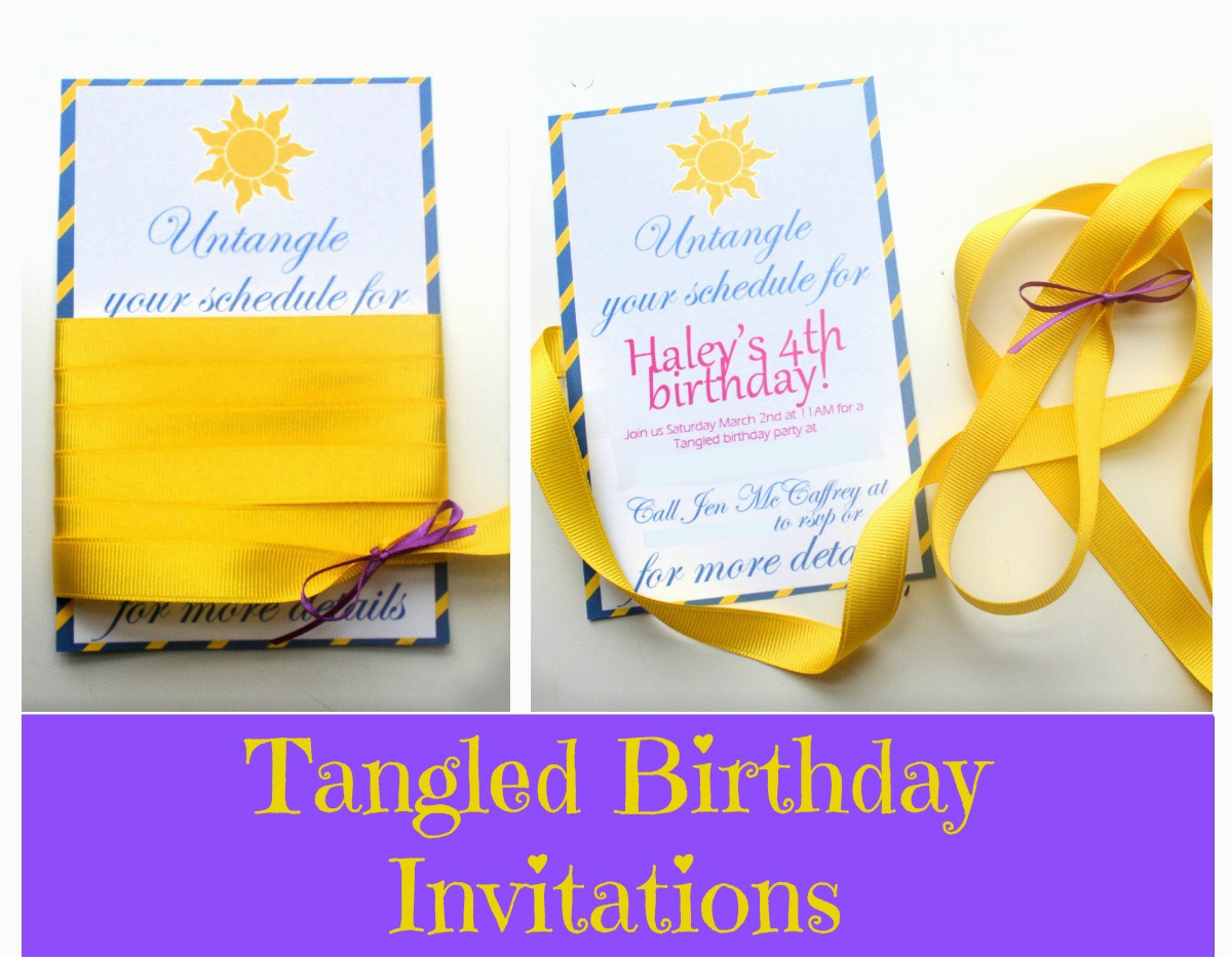 party tangled birthday invites tangled