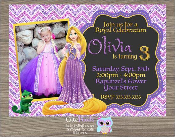 rapunzel invitation tangled invitation