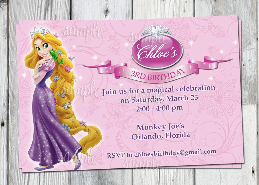 tangled birthday invitation printable