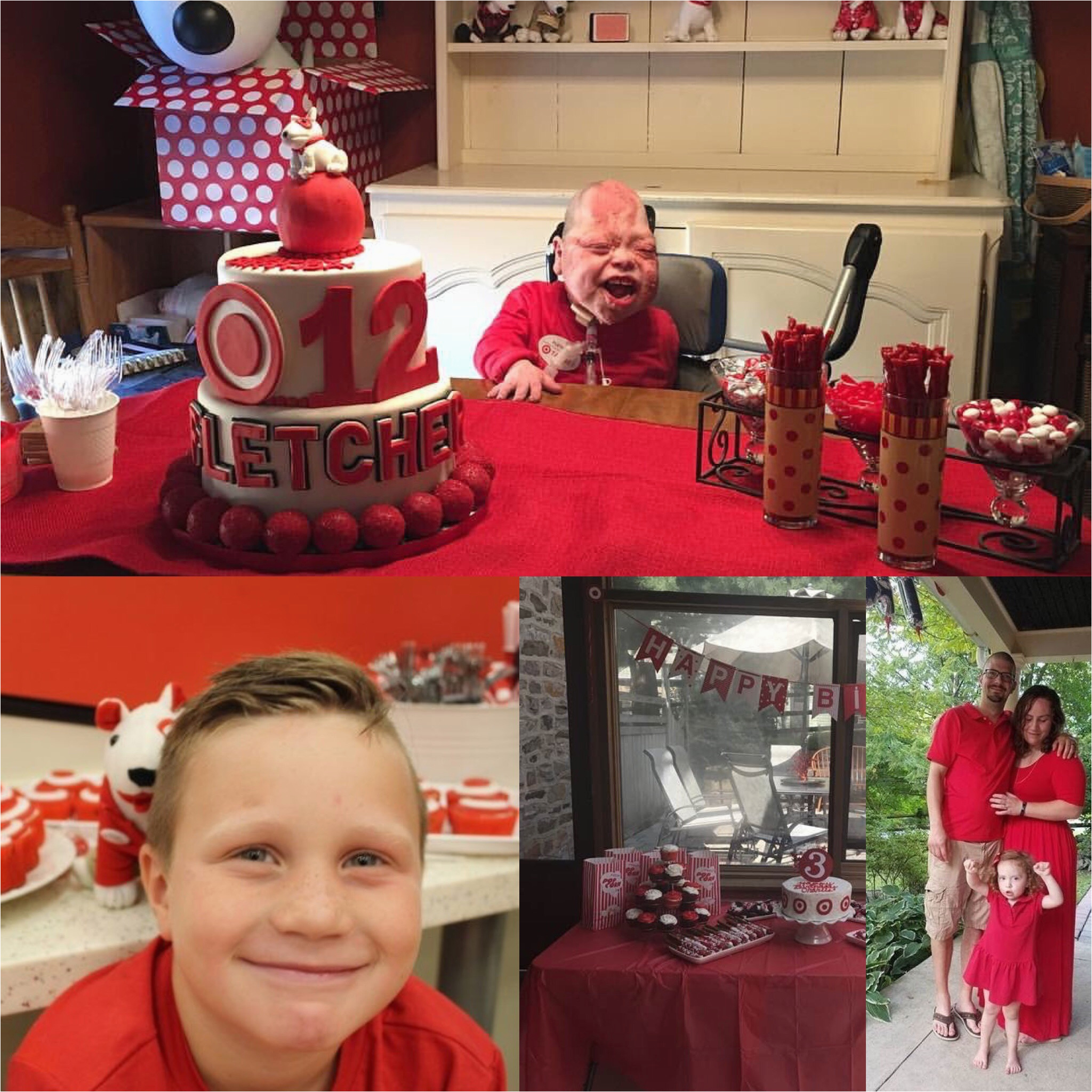 viral target themed birthday parties